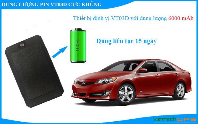 Định vị VT03D dung lượng pin khủng